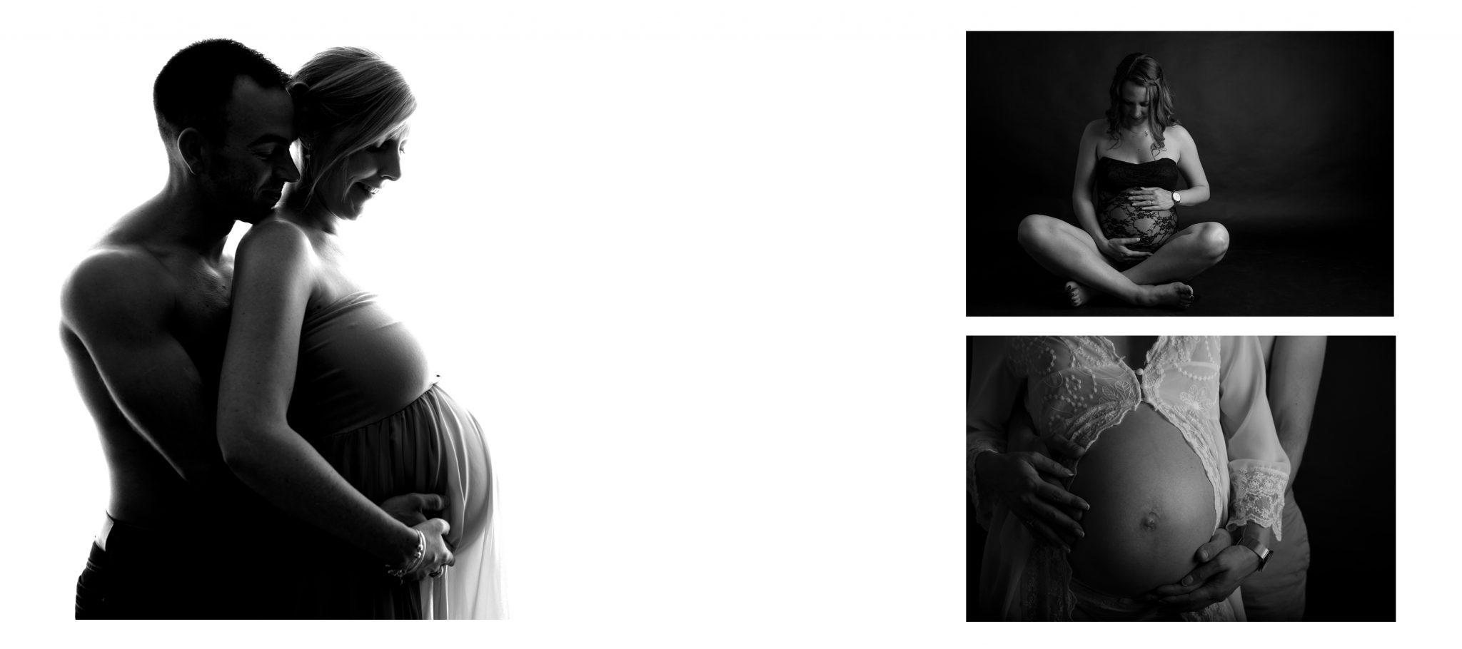 Garnaud Peggy photographe photo de grossesse en studio Lyon Grenoble Annecy Chambéry Genève